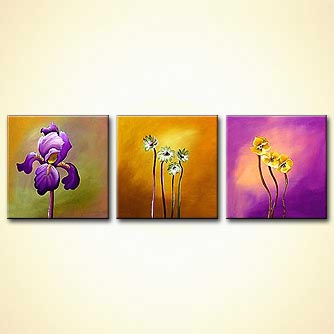Floral painting - Flowers in My Garden