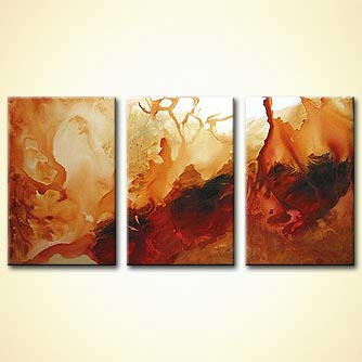 triptych modern painting