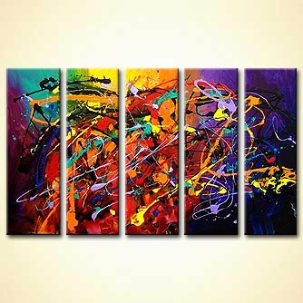 modern abstract art - Dancing with Angels