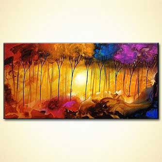 Forest painting - Heaven on Earth