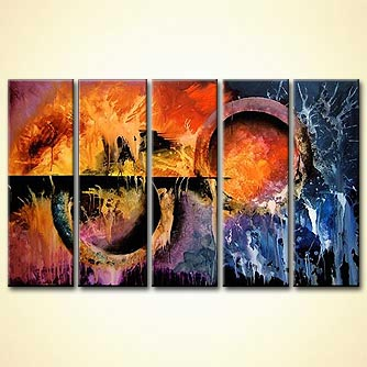 Abstract painting - Ringworld