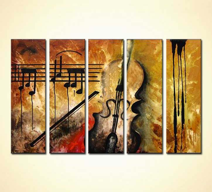 Painting for sale - violin abstract art #2886
