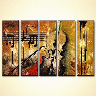 modern abstract art - Burning Melody