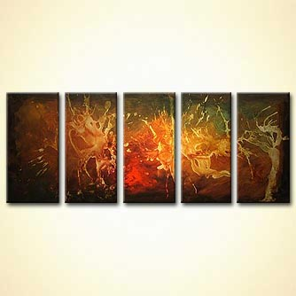 Abstract painting - The Fire Stone