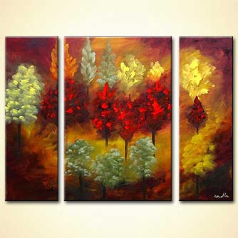 modern abstract art - Forests of the Heart