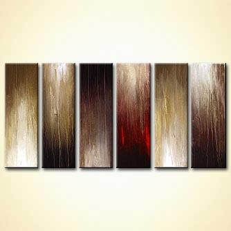 Abstract painting - Ebony and Ivory