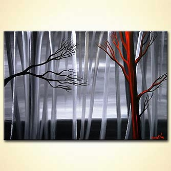 tree trunks painting
