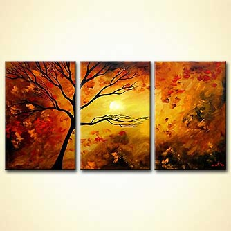 modern abstract art - Autumn Leaves