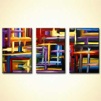 modern abstract art - A Day in the Market