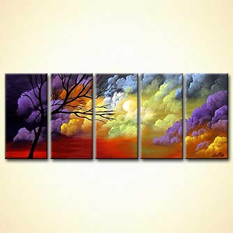 Landscape painting - When Heaven and Earth Collide