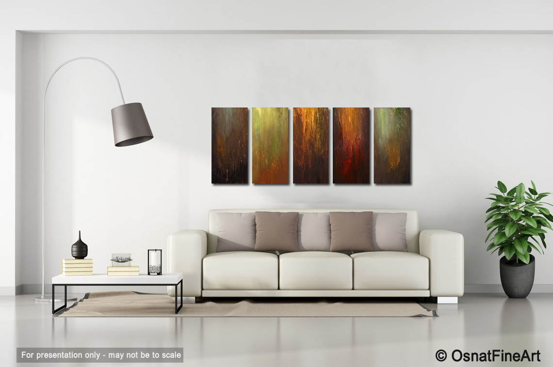 abstract painting multi panel wall decor 3136