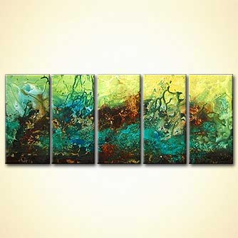 Abstract painting - Evolutions Shore