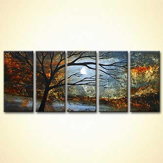 modern abstract art - Silver Sunset