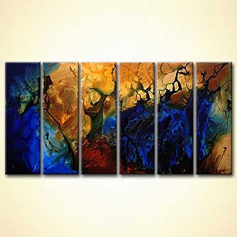 Abstract painting - Warriors of Azkaban