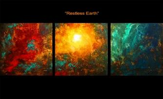 modern abstract art - Restless Earth