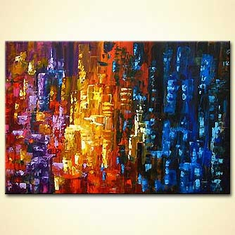 Abstract painting - Colorful City
