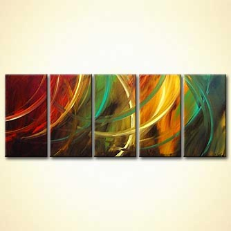 multi-panel abstract art