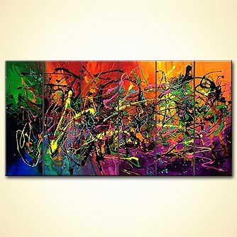 Abstract painting - When I Fall in Love