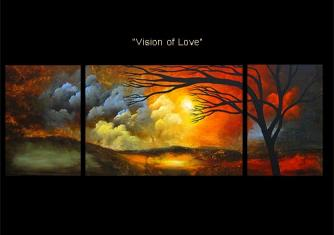 modern abstract art - Vision of Love