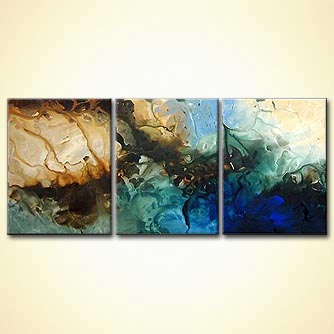 modern abstract art - Moon Tide