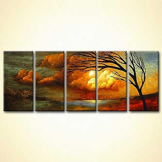 Landscape painting - Love for All Seasons