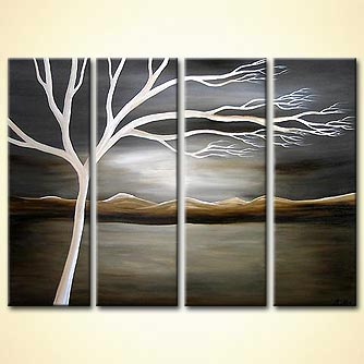 Landscape painting - Winter Warmth
