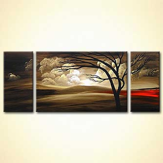 Landscape painting - Hold You Through the Night