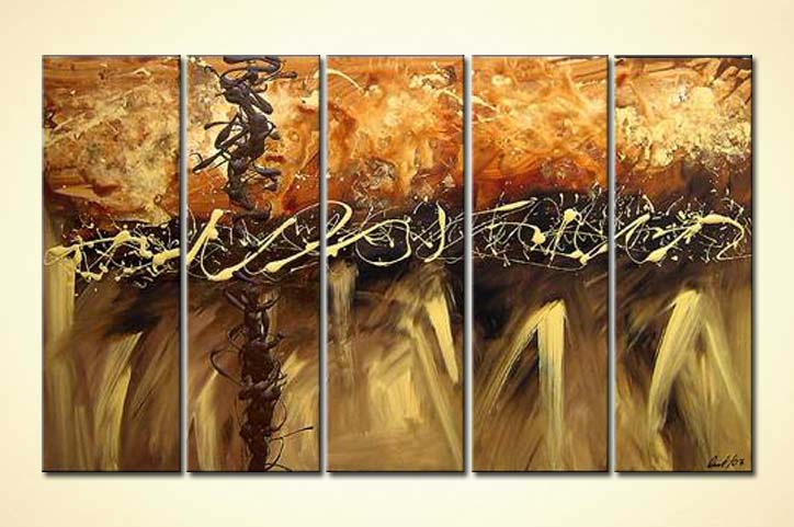 modern abstract art - Chocolate and Caramel