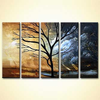 Landscape painting - After the Storm has Passed You and Gone