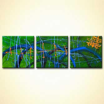 Abstract painting - King Road