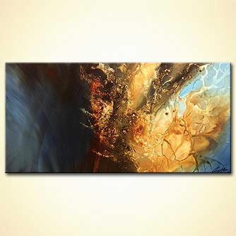 Abstract painting - Beyond the Gated Sky