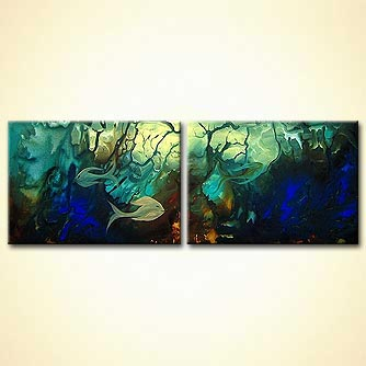 Seascape painting - Into the Deep Blue Sea