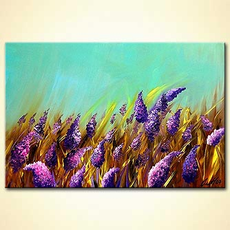 Floral painting - Scent of  Wind