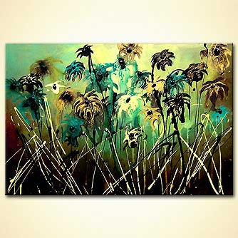 Floral painting - The Painter s Garden