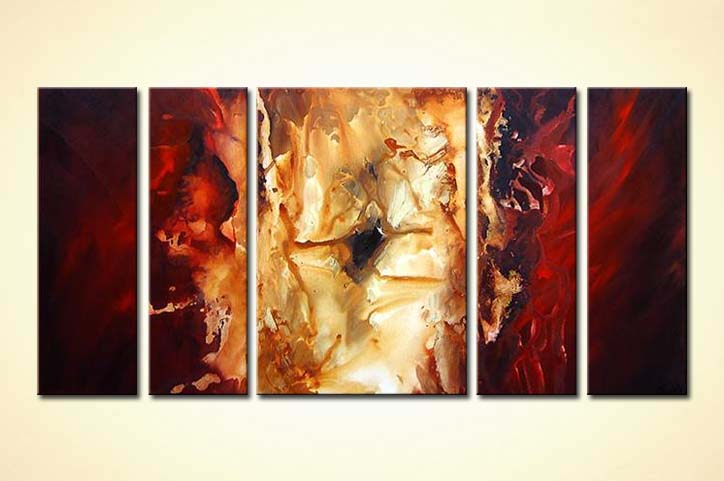 painting for sale red gold abstract 3478