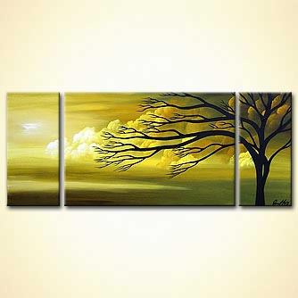 Landscape painting - No More Stormy Nights