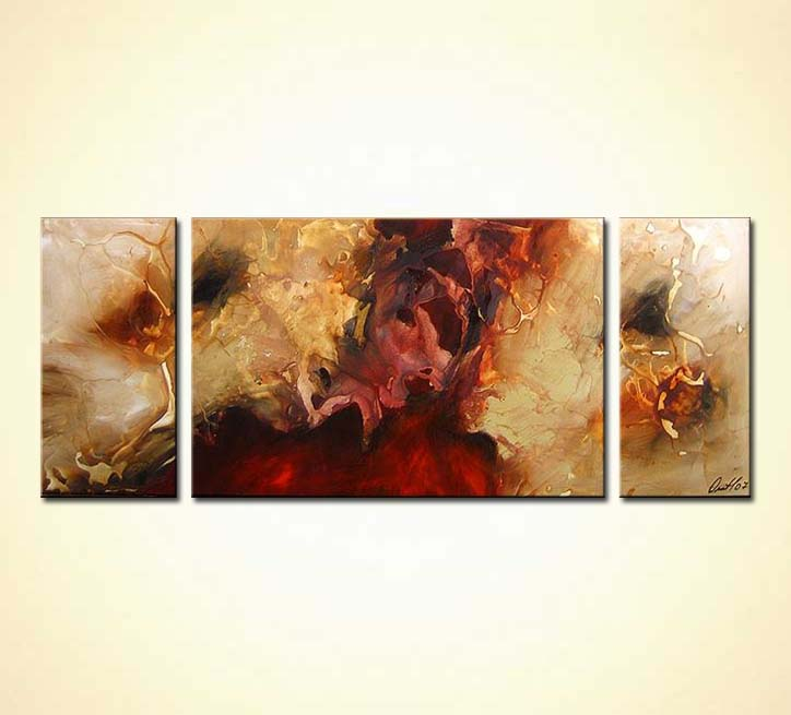 Painting For Sale Triptych Abstract 3485