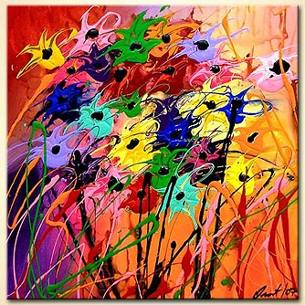 modern abstract art - The Bride Bouquet