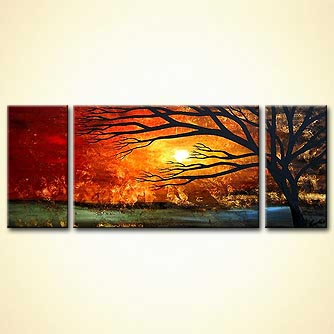 Landscape painting - Golden Sunset