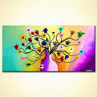 Floral painting - A Way to My Heart