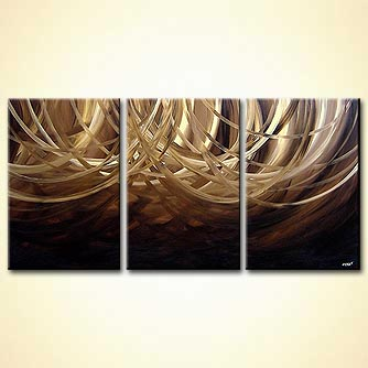Abstract painting - Cream and Chocolate