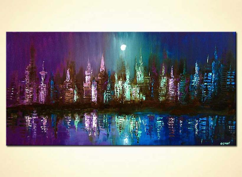 Painting For Sale Abstract City Painting 3563