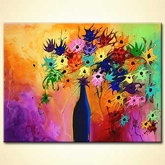 Floral painting - Dancing with Lilac