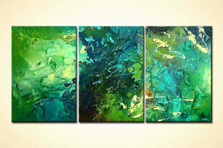 Painting green abstract art 3596 for Buy abstract art online