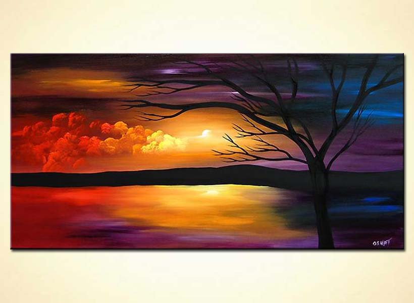 Painting landscape painting 3576 for Artist canvas paint color