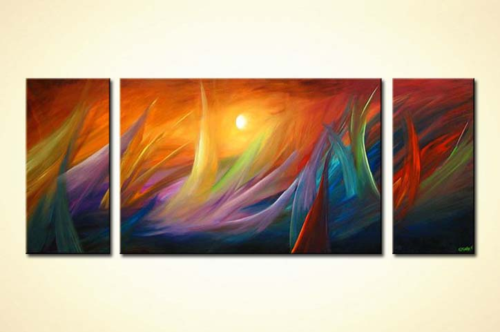 Abstract Painting Modern Waves Painting 3593