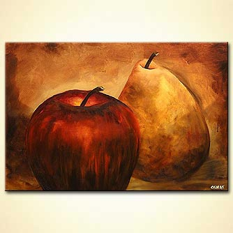 modern abstract art - Comfort me with Apples