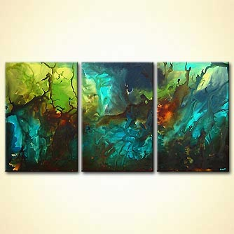 Abstract painting - The Fountain of Paradise