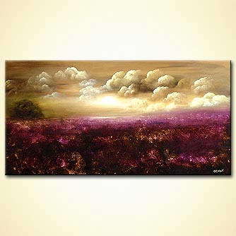 Forest painting - Fields of Lavender