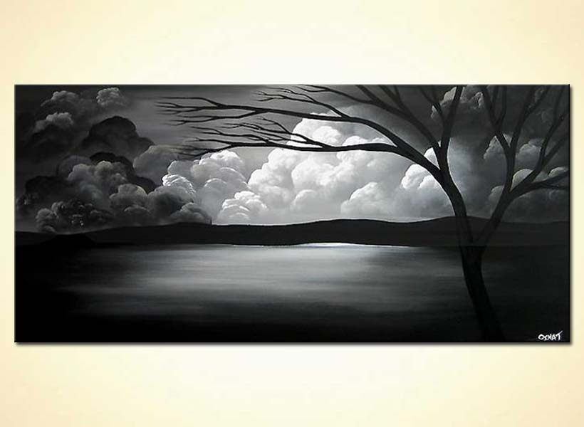 Black And White Scenery Paintings